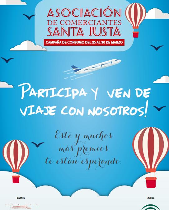 La Asociación de Comerciantes de Santa Justa sortea un viaje y grandes premios entre los clientes de la zona comercial.